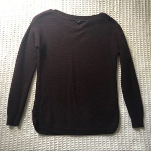 Theory Brency burgundy wool blend sweater P